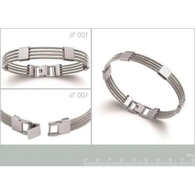 Bracelet jonc pour homme en acier, Bijoux tendance homme