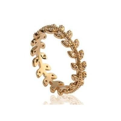 Bague pour femme en plaqué or et zircon - Bijoux femme