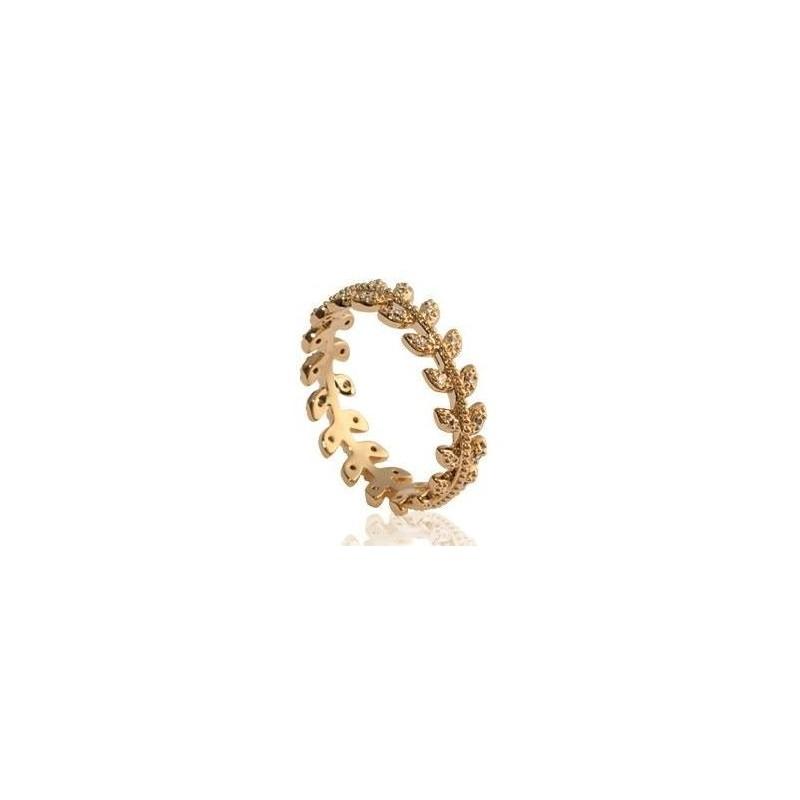 Bague en plaqué or et zircon pour femme - Nana - Lyn&Or Bijoux