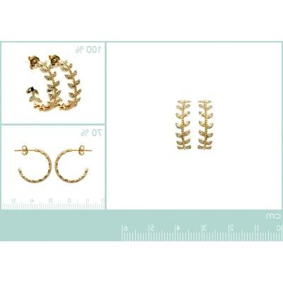 Boucles Créoles en plaqué or et zircon pour femme - Bijoux femme