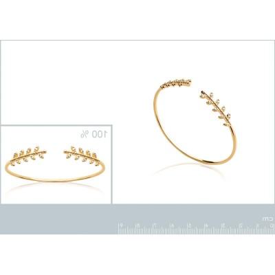 Bracelet jonc ouvert en plaqué or et zircon - Bijoux femme