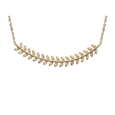 Collier pour femme en plaqué or et zircon - Bijoux femme