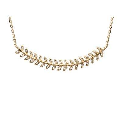 Collier en plaqué or et zircon pour femme - Nana - Lyn&Or Bijoux