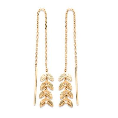 Boucles Chaînes d'oreilles en plaqué or pour femme - Bijoux femme