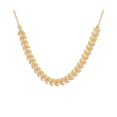Collier ras-de-cou pour femme en plaqué or - Bijoux femme
