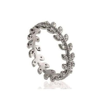 Bague pour femme en argent rhodié et zircon - Yeva - Lyn&Or Bijoux