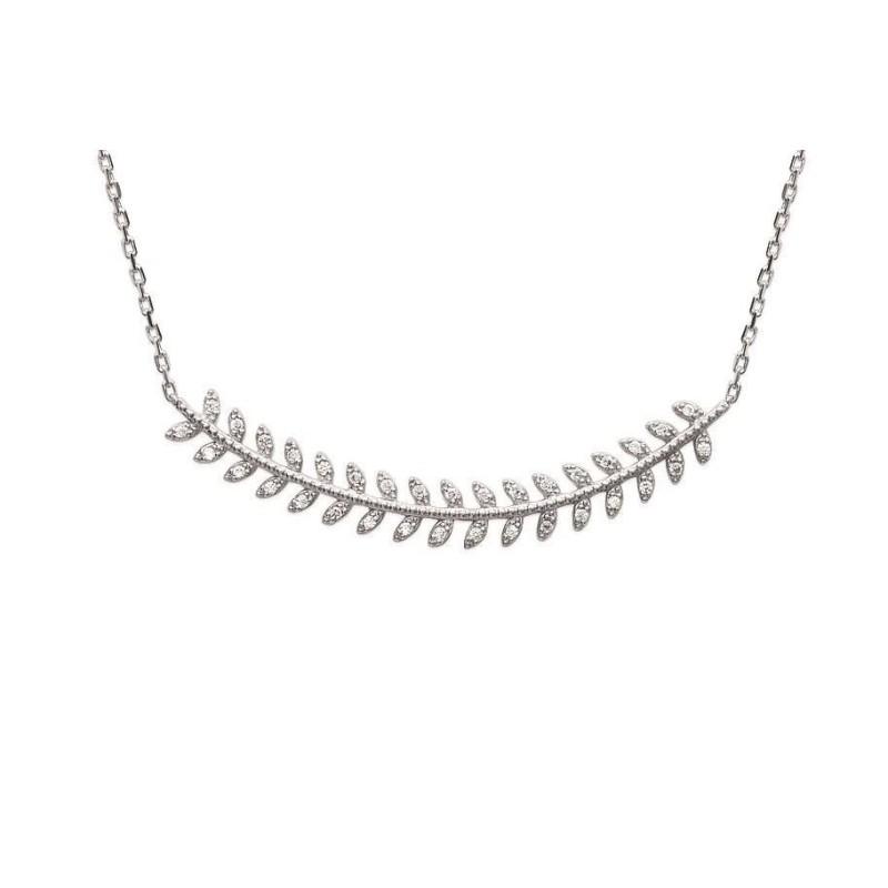 Collier en argent rhodié et zircon pour femme - Yeva - Lyn&Or Bijoux