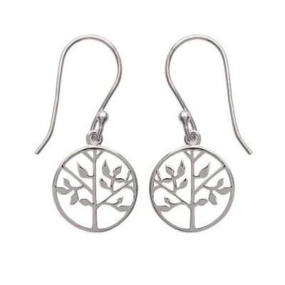 Boucles d'oreilles arbre de vie en argent - Bijoux femme