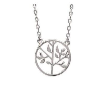 Collier arbre de vie en argent rhodié pour femme - Signature - Lyn&Or Bijoux