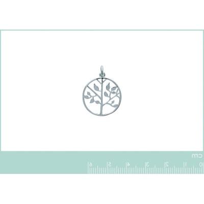 Pendentif arbre de vie en argent rhodié - Bijoux femme