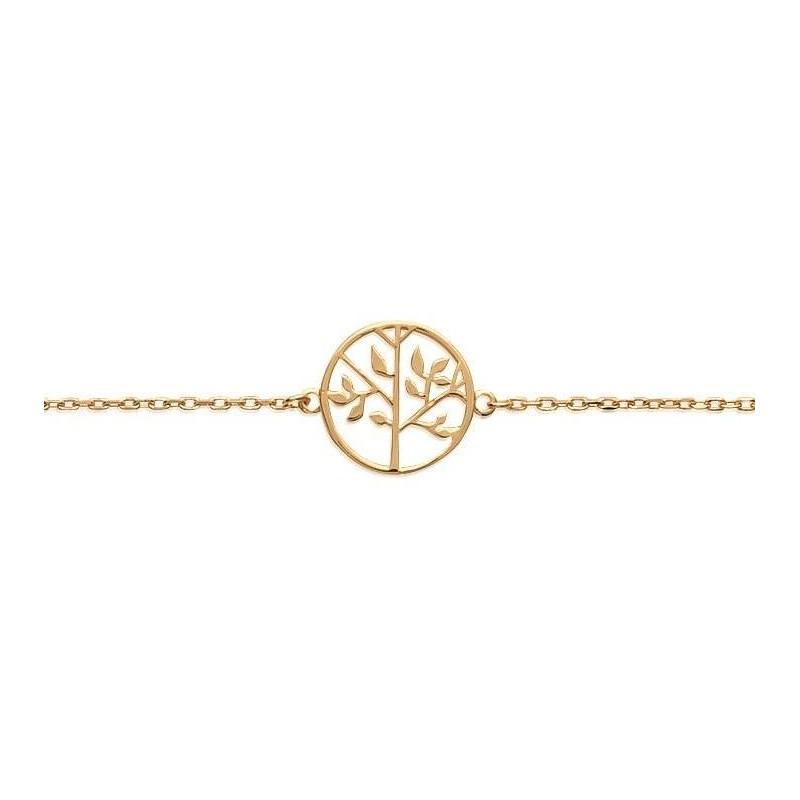 Bracelet arbre de vie en plaqué or pour femme - Synopsis - Lyn&Or Bijoux