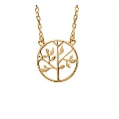 Collier avec pendentif arbre de vie en plaqué or pour femme - Bijoux femme