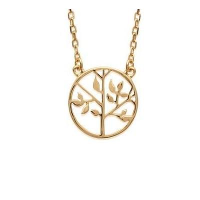 Collier arbre de vie en plaqué or pour femme - Synopsis - Lyn&Or Bijoux