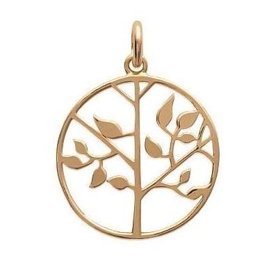 Pendentif pour collier arbre de vie en plaqué or pour femme - Bijoux femme