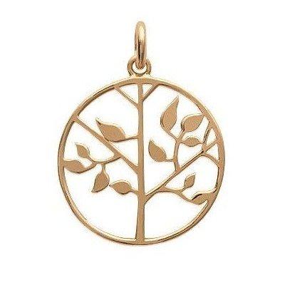 Pendentif arbre de vie en plaqué or pour femme - Synopsis - Lyn&Or Bijoux