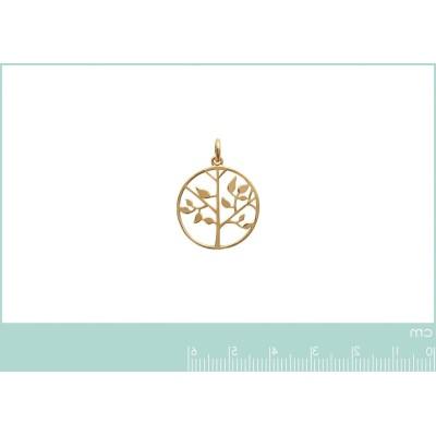 Pendentif arbre de vie en plaqué or pour femme - Bijoux femme