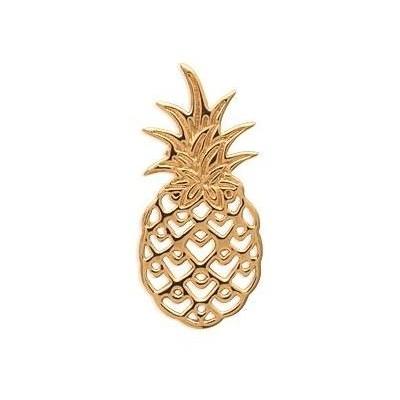 Pendentif en plaqué or pour femme - Ananas - Lyn&Or Bijoux