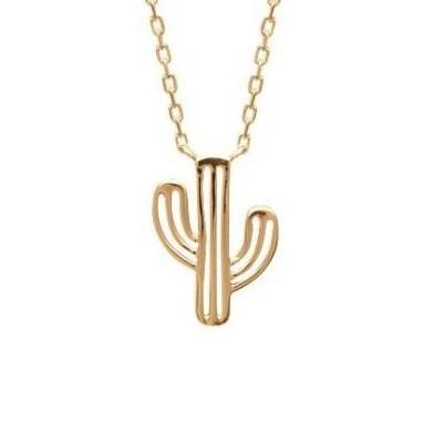 Collier en plaqué or pour femme - Cactus - Lyn&Or Bijoux