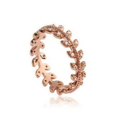 Bague en plaqué or rose et zircon pour femme - Nana - Lyn&Or Bijoux