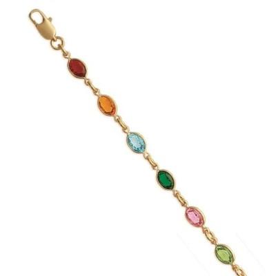 Collier Swarovski en plaqué or pour femme - Swing multicolore - Lyn&Or Bijoux