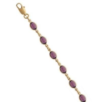 Bracelet plaqué or et Swarovski pour femme - Bijoux femme