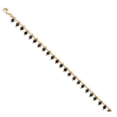 Bracelet femme en plaqué or et cristal de Swarovski Vert - Tik - Lyn&Or Bijoux