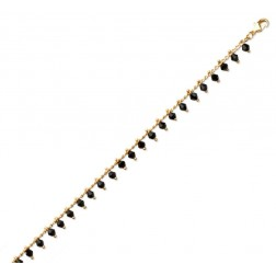 Bracelet en plaqué or, cristal de Swarovski Vert - Bijoux pour femme