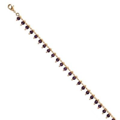 Bracelet en plaqué or, cristal de Swarovski Noir - Bijoux pour femme