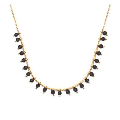 Collier femme en plaqué or et cristal de Swarovski Vert - Tik - Lyn&Or Bijoux