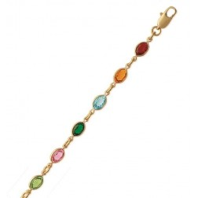 Bracelet Swarovski en plaqué or pour femme - Swing multicolore - Lyn&Or Bijoux