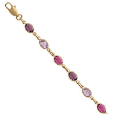 Bracelet pour femme avec cristal de Swarovski en plaqué or - Bijoux femme