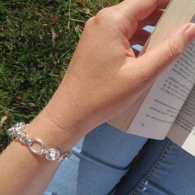 Bracelet argent et swarovski pour femme, Zoé Bijoux