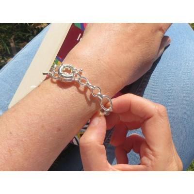 Bracelet swarovski en argent pour femme, bijou de créateur
