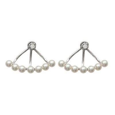 Boucles d'oreilles tendance pour femme pour mariage avec perles blanches, Cannelle