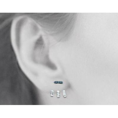 Boucles, lobes d'oreilles femme en argent et turquoise pour femme, Suzy