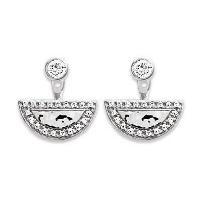 Lobes d'oreilles en argent rhodié pour femme - Alice - Lyn&Or Bijoux