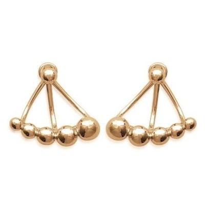 Boucles d'oreilles tendance pour femme en plaqué or jaune, Morgane