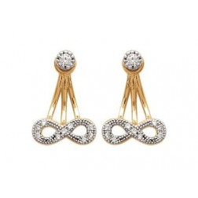 Lobes d'oreilles plaqué or et zircon pour femme - Infini - Lyn&Or Bijoux