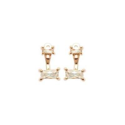 Boucles d'oreilles tendance pour femme en plaqué or et zircon, Taji