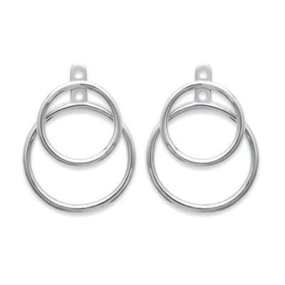 Boucles d'oreilles tendance pour femme avec anneaux en argent, Lumina