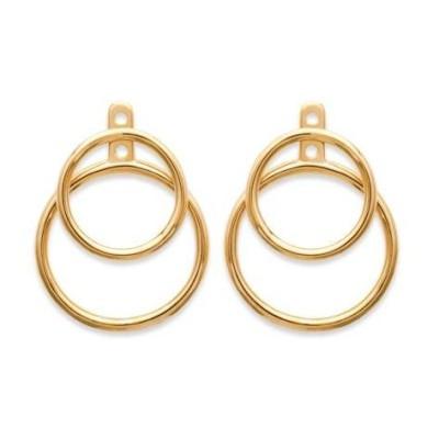 Boucles d'oreilles tendance pour femme avec cercles en plaqué or, Lumina
