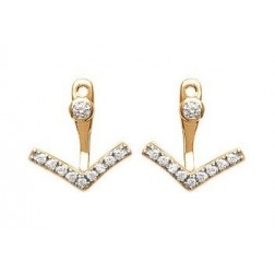 Boucles d'oreilles tendance pour femme triangle en plaqué or et zircon, Synopsis