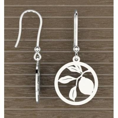 Boucles d'oreilles argent pour Femme - Citronnier - Lyn&Or Bijoux