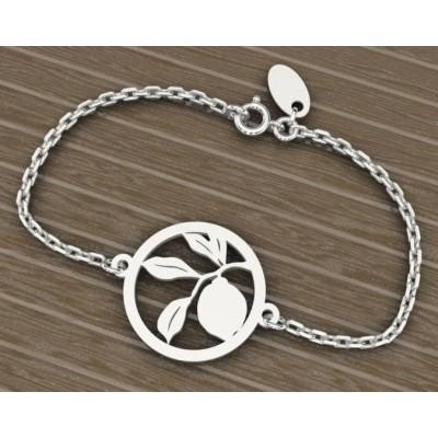 Bracelet pour femme en argent rhodié - Citronnier - Lyn&Or Bijoux