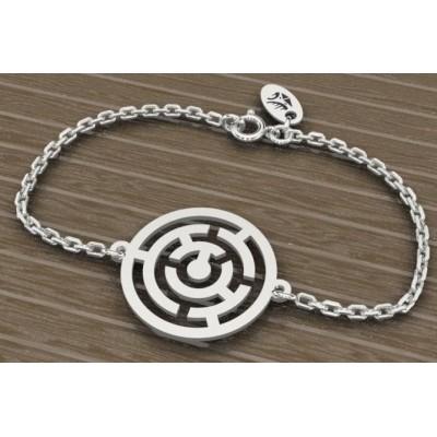 Bracelet en argent 925 pour Femme, Labyrinthe