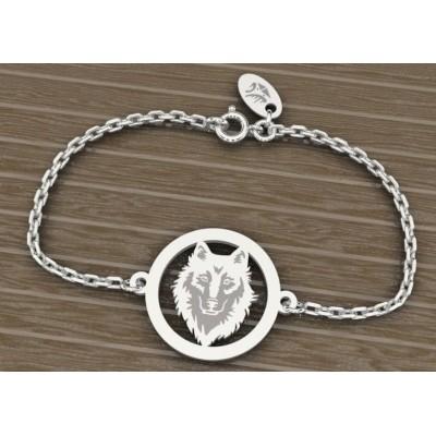 Bracelet en argent 925 pour Femme, Loup