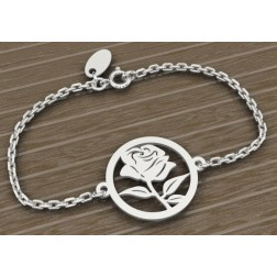 Bracelet en argent 925 pour Femme, Rosier
