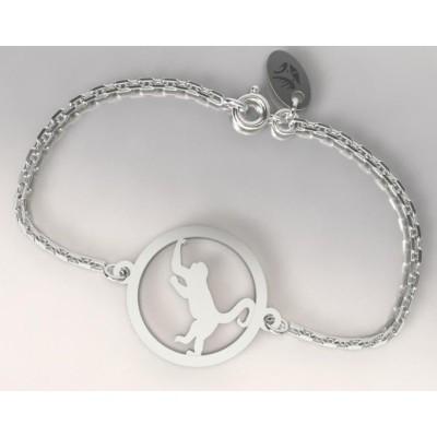Bracelet en argent 925 pour Femme, Singe