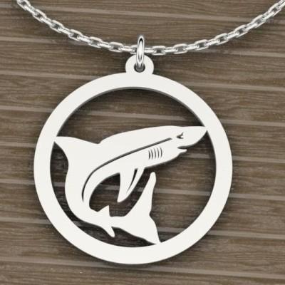 Collier et pendentif argent pour Femme, Requin