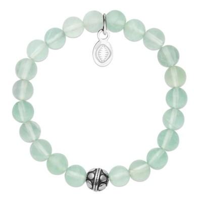 Bracelet en pierres naturelles Jade et acier pour femme, marque Shark'n Stones Vert